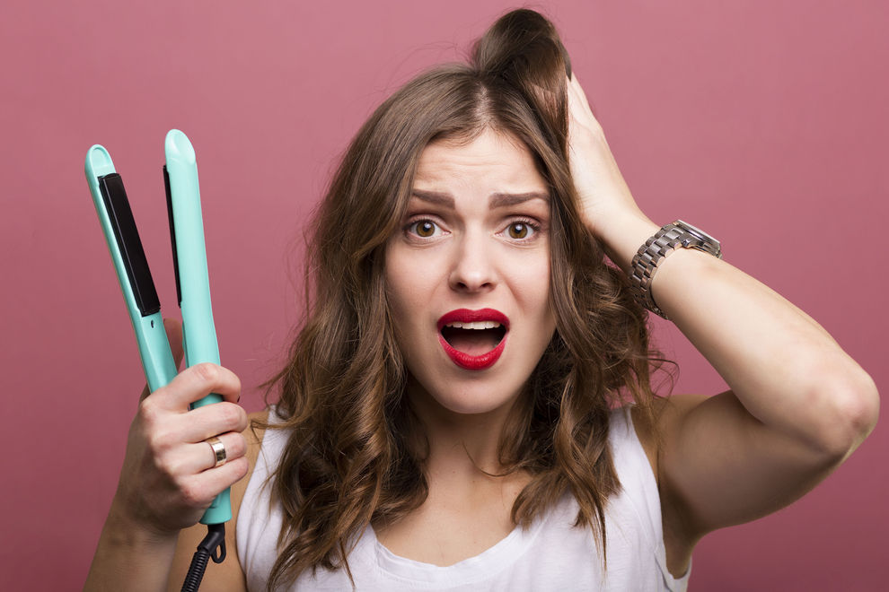 Das kann passieren, wenn man jeden Tag Haare glättet