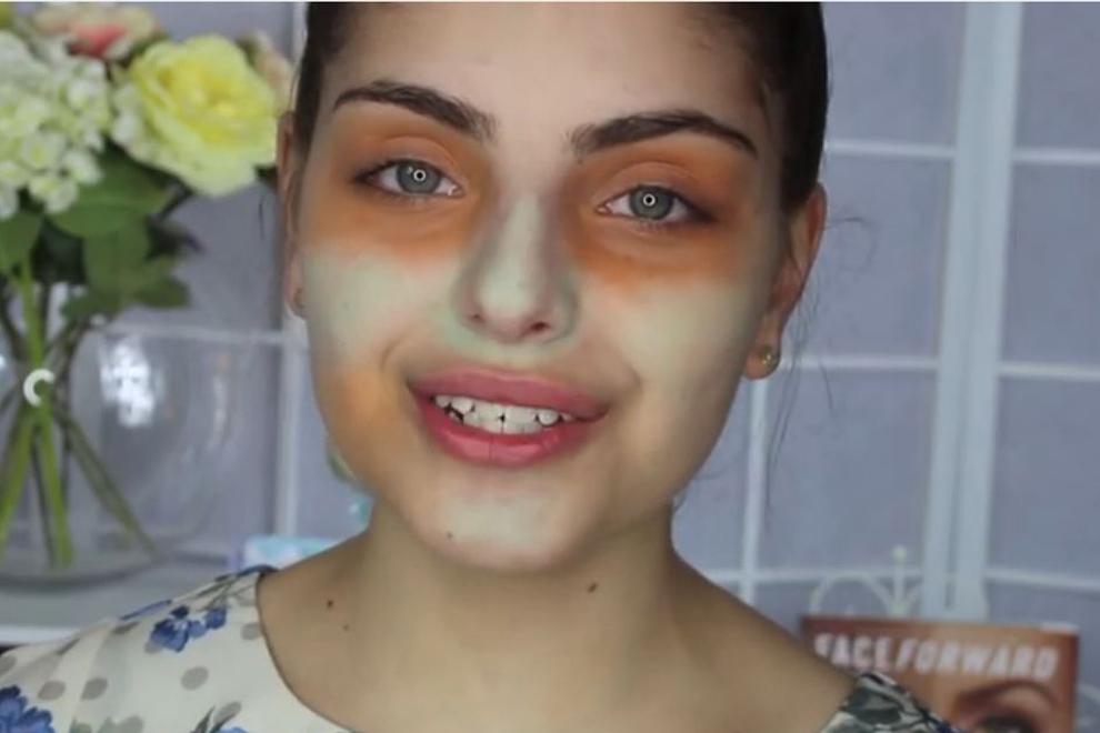 Makellose Haut durch den Grün-Orange Concealer-Trick