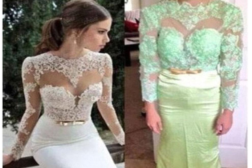 Die schrecklichsten Hochzeitskleider aus dem Internet