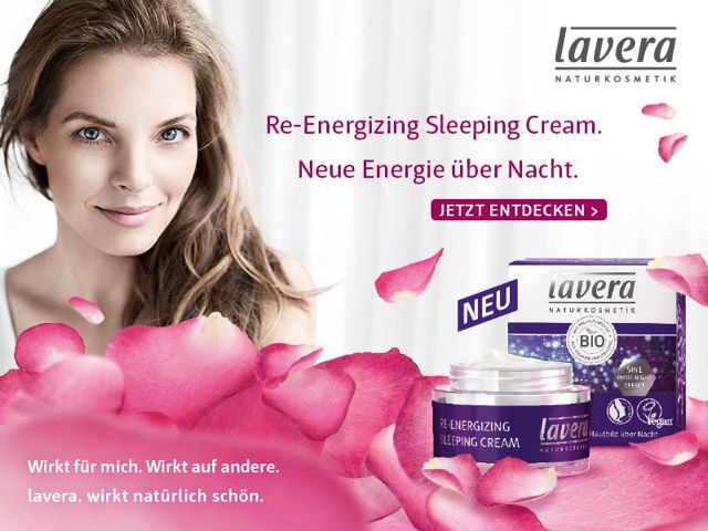 Die neue lavera Re-Energizing Sleeping Cream