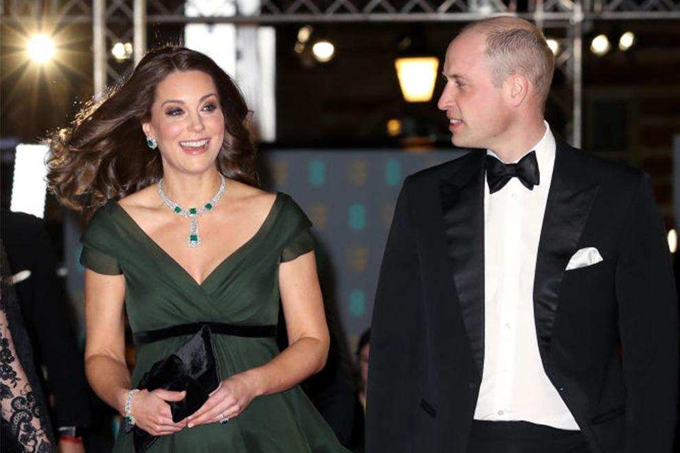 Grün statt schwarz: Herzogin Kate wegen Outfit bei den BAFTA-Awards in der Kritik