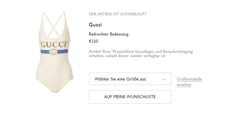 Gucci Badeanzug bei net-a-porter