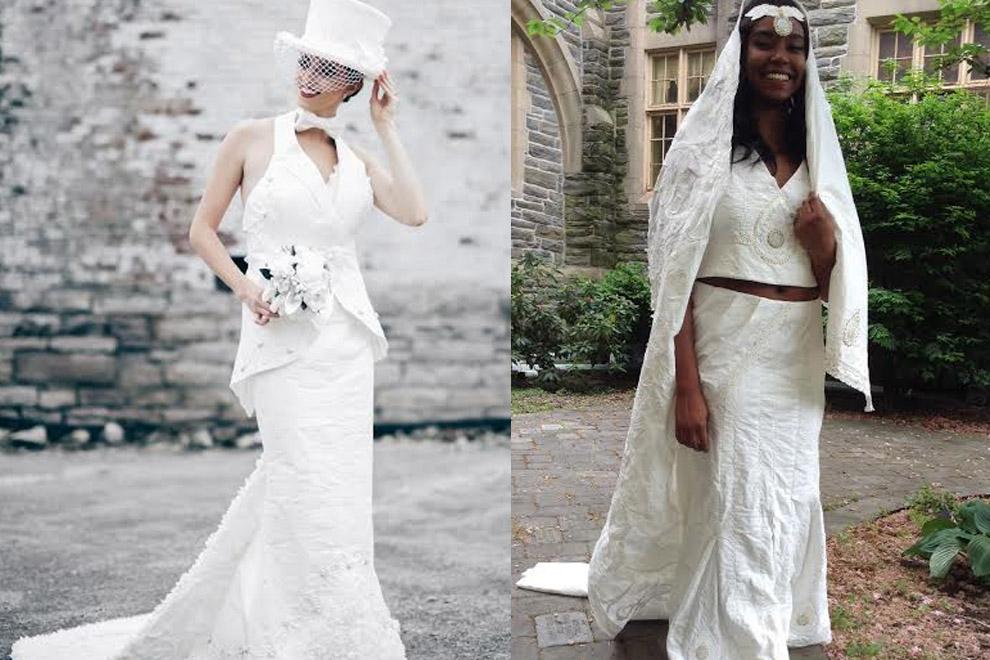 Diese Brautkleider sind aus Klopapier