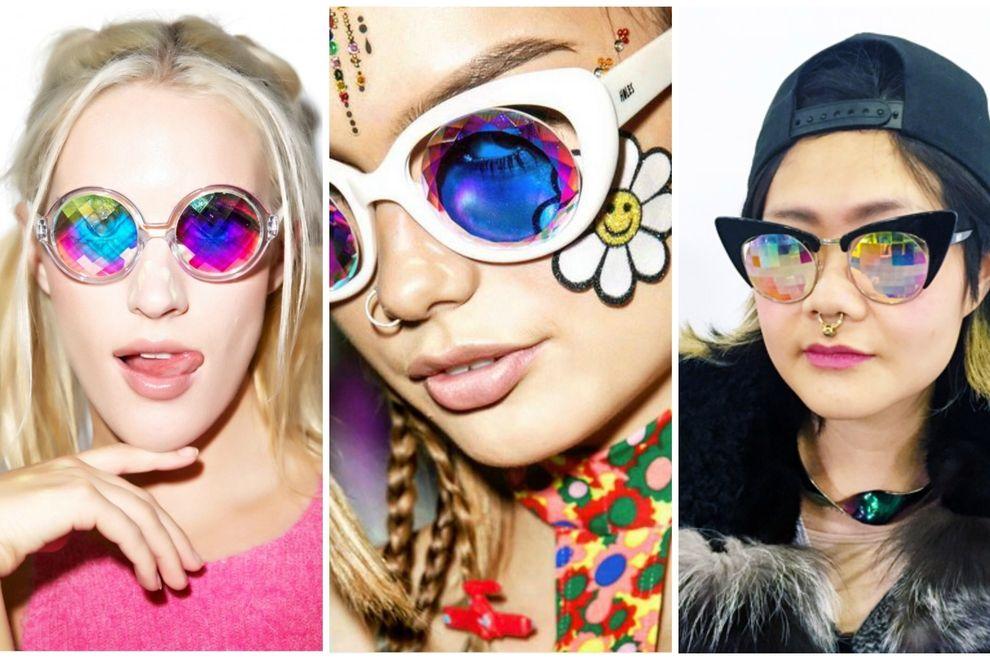 Schräger Trend: Kaleidoskop-Brillen