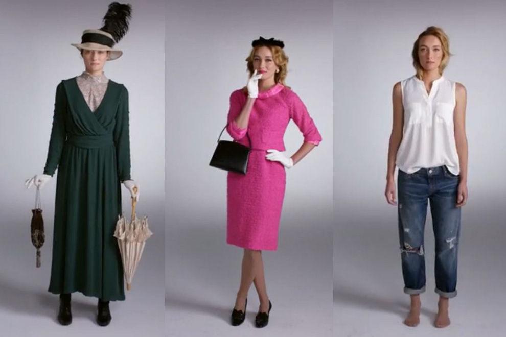 100 Jahre Mode in 2 Minuten