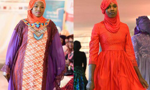 Muslimische Frauen präsentieren Mode in Dakar