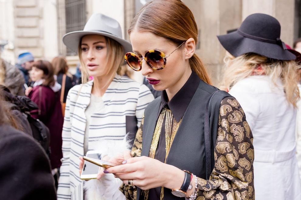 Keine Smartphones bei Fashion Show