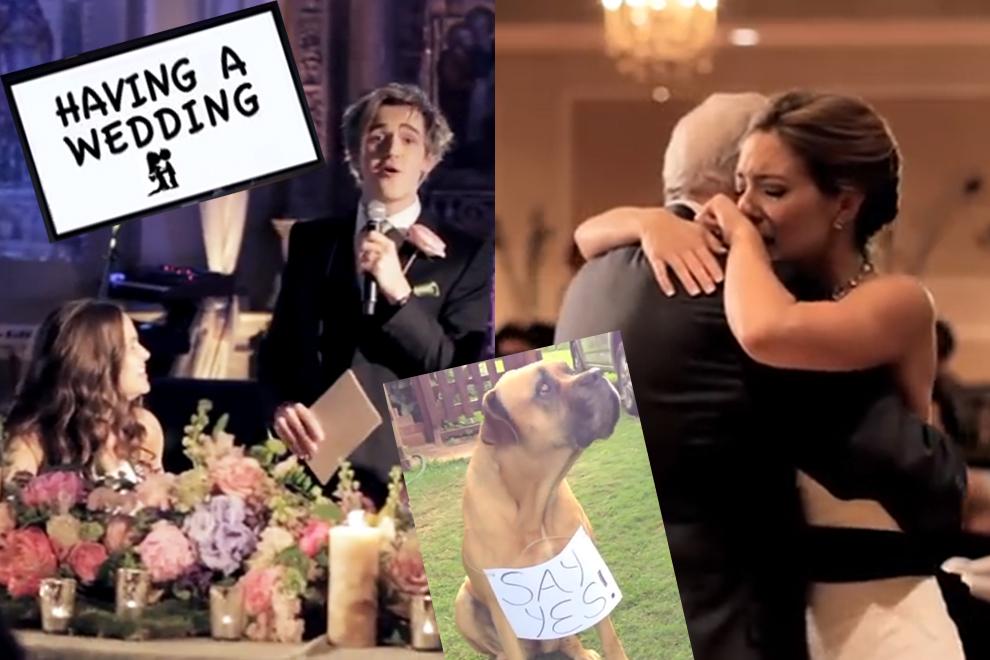 Bei diesen Hochzeitsvideos fließen garantiert Tränen!