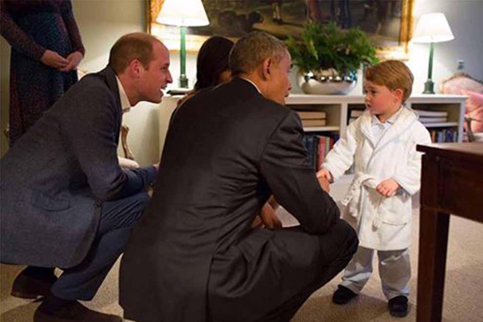 So süß sah Prinz George beim Treffen mit Barack Obama aus