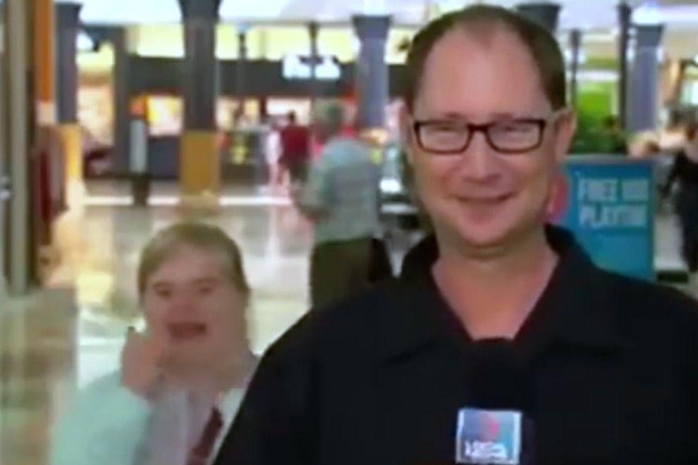 Wie ein Mädchen mit Down-Syndrom einem TV-Moderator die Show stiehlt