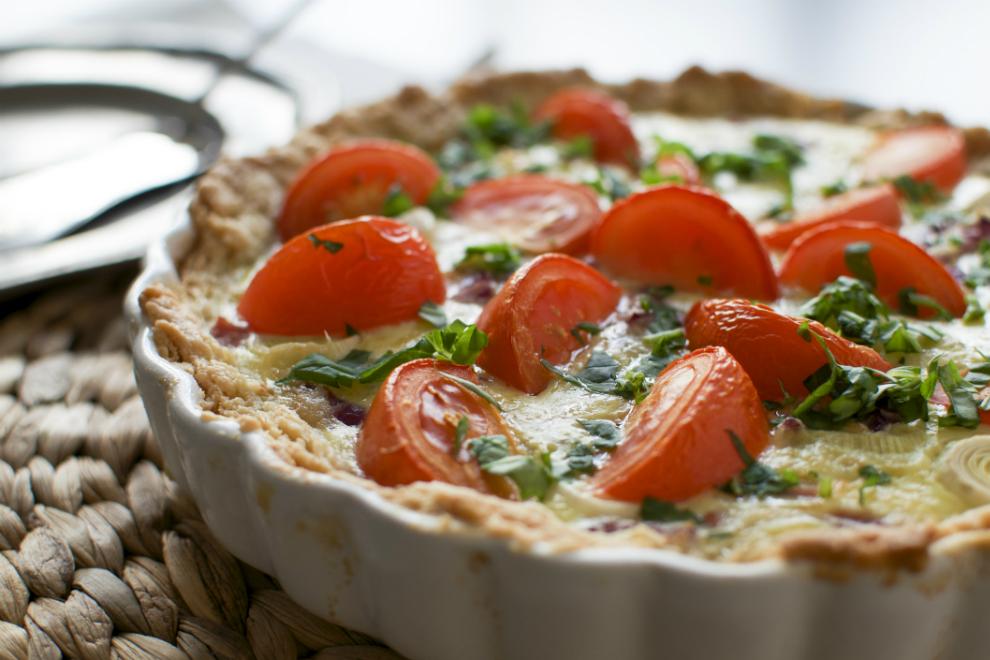 Tomaten Mozzarella Basilikum Quiche