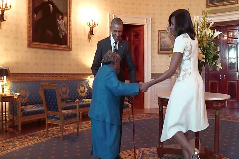 Diese 106-jährige Dame zeigt Präsident Obama, wo's langgeht