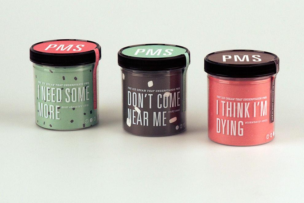Grafikdesigner entwickelt hippe Verpackung für PMS-Eiscreme