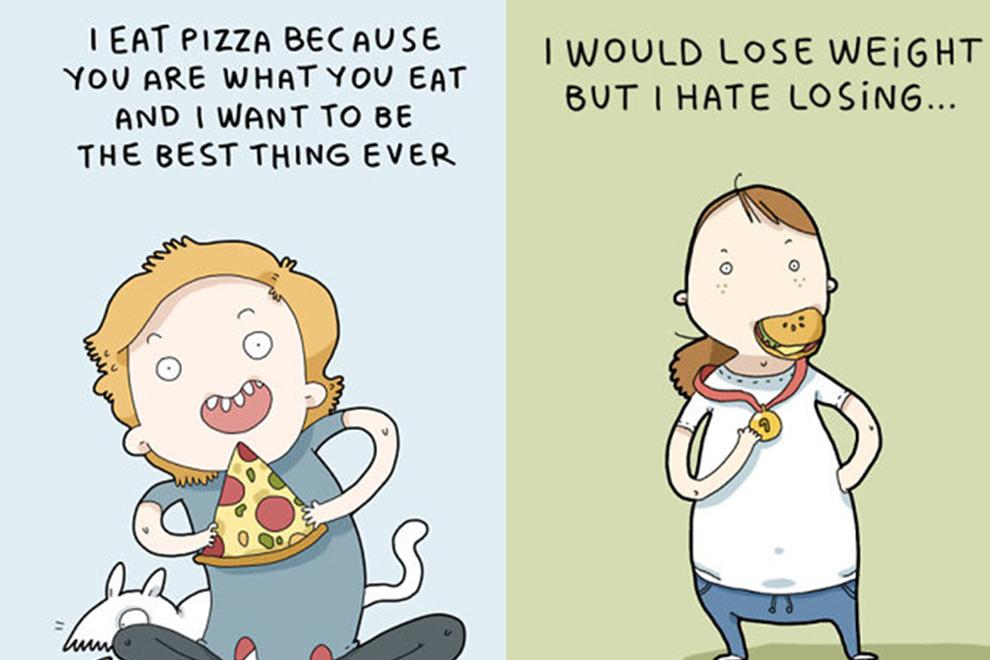 Diese Illustrationen bringen unsere Liebe zum Essen auf den Punkt