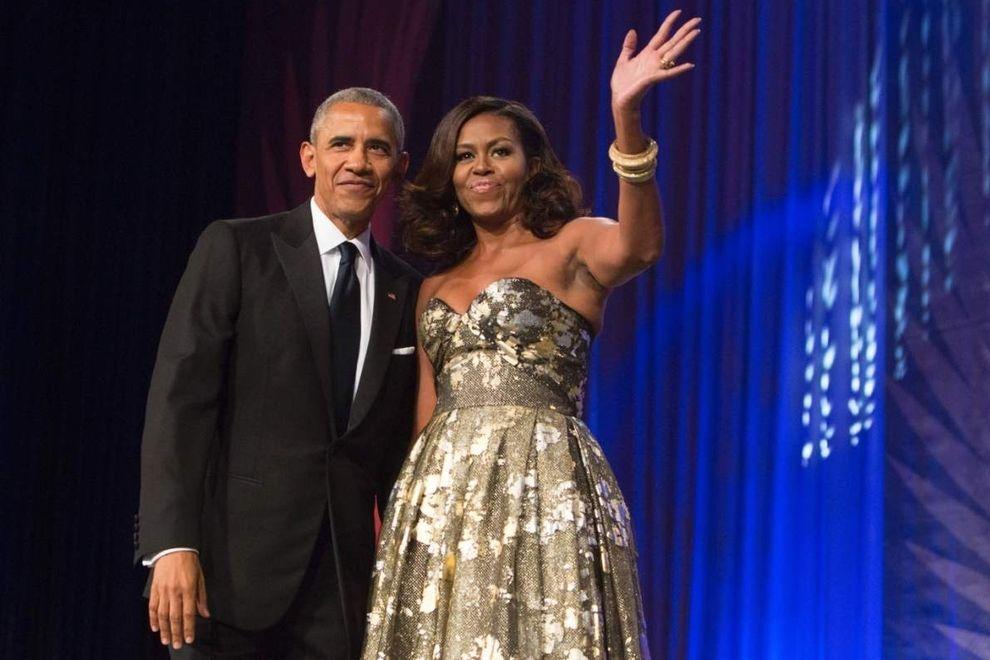 So rührend bedanken sich die Stars bei Barack und Michelle Obama