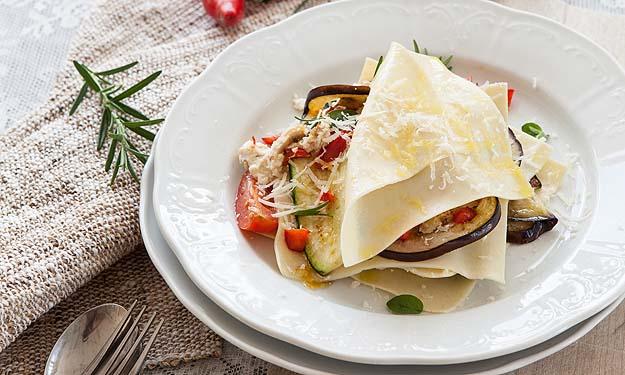 Ricotta-Gemüselasagne