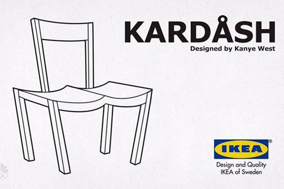 so ver ppelt die online welt kanyes bewerbung bei ikea. Black Bedroom Furniture Sets. Home Design Ideas