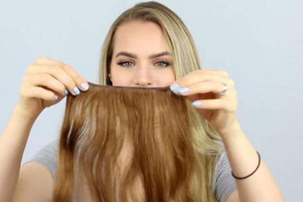 So sehen 100 Schichten Hair-Extensions aus