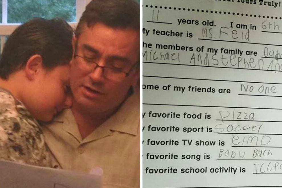 So reagierte ein Vater, als er herausfand, dass sein Sohn keine Freunde hat