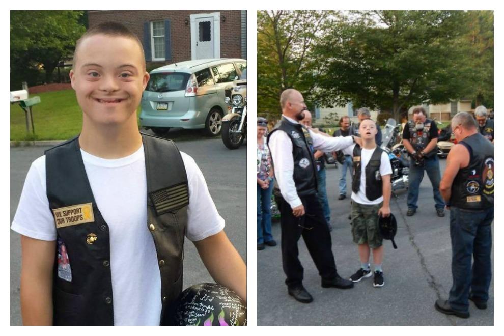 Biker-Gang begleitet Jungen mit Down-Syndrom zur Schule