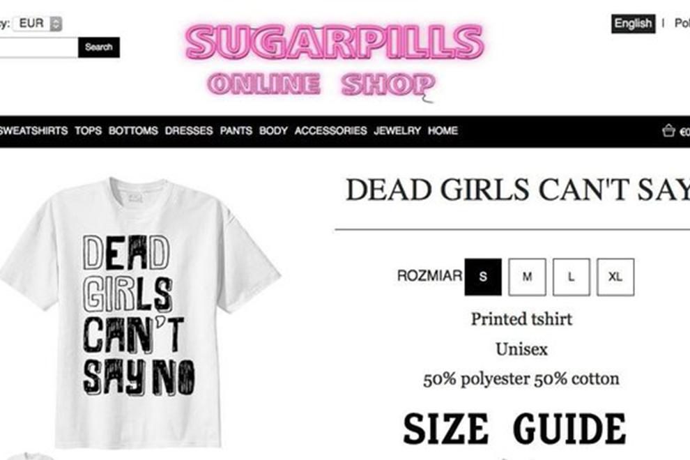 T-Shirt mit Pro-Vergewaltigungsslogan erntet heftige Kritik