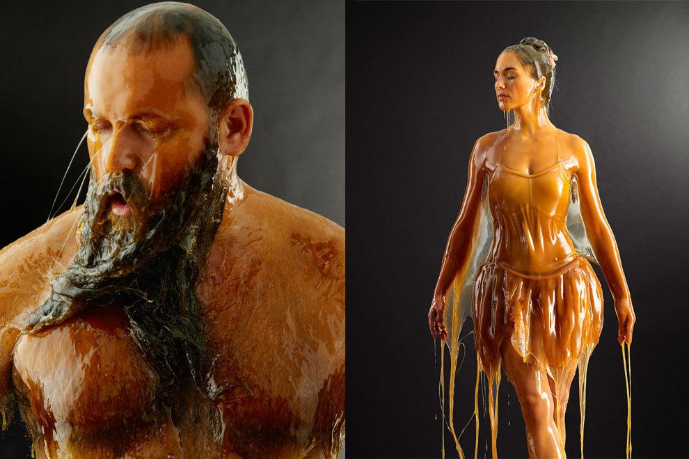 Fotograf überschüttet Models mit Honig