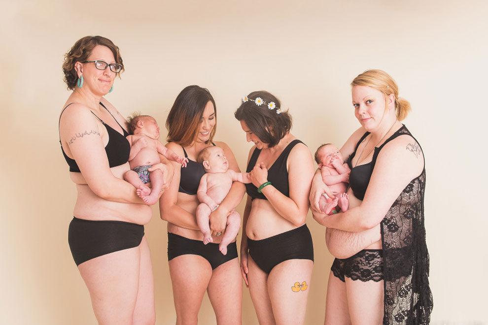 Projekt zelebriert Frauenkörper nach der Geburt