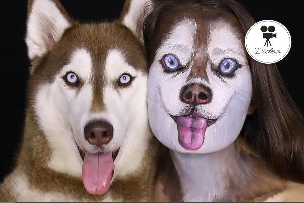 Diese Frau verwandelt sich dank Make-up in einen Husky