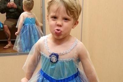 Dieser Bub will zu Halloween eine Prinzessin sein