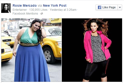 Model nimmt 90 Kilo ab