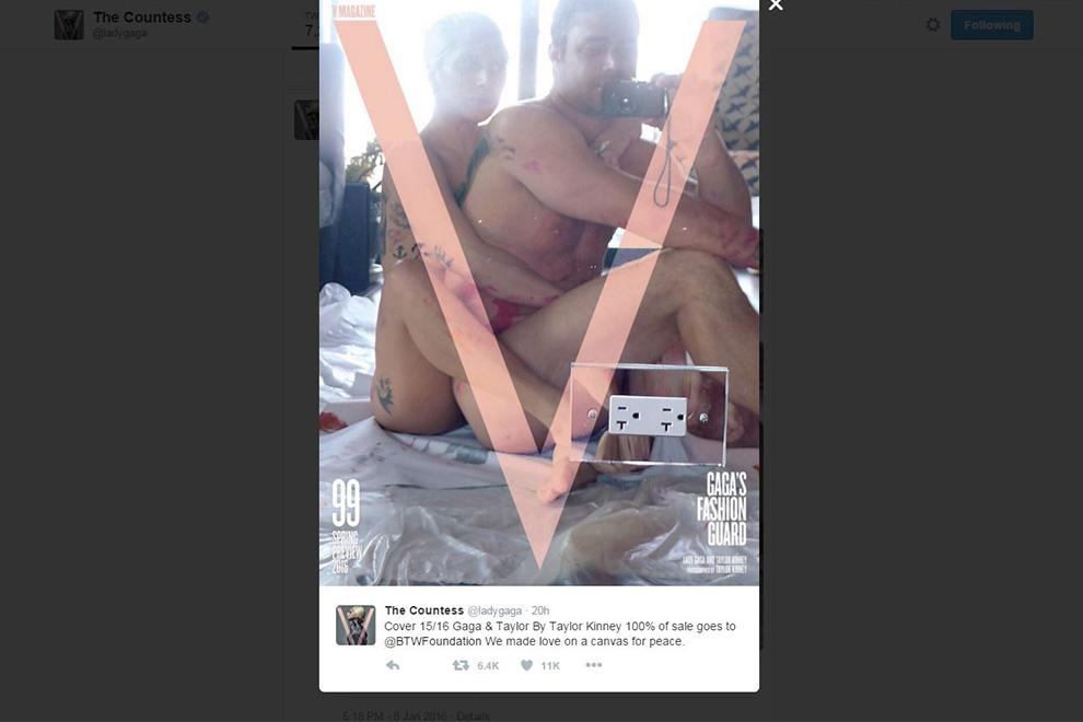 Lady Gaga und Taylor Kinneyzeigen sich nackt