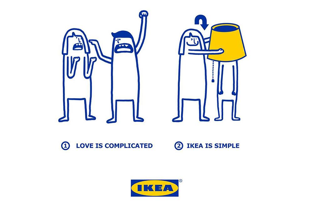 Ikea gibt sich als lustiger Love-Coach