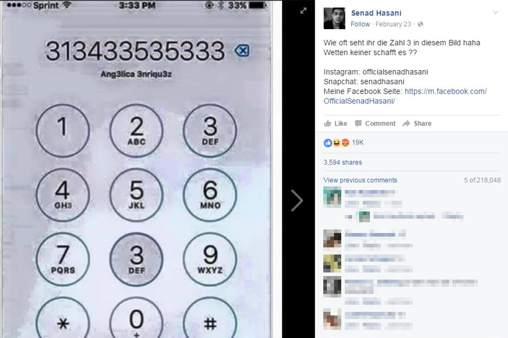 Dieses Zahlenrätsel löst auf Facebook einen Kommentar-Sturm aus