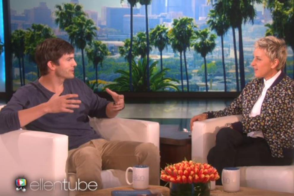 Ashton Kutcher zeigt bei Ellen DeGeneres Foto von Tochter Wyatt