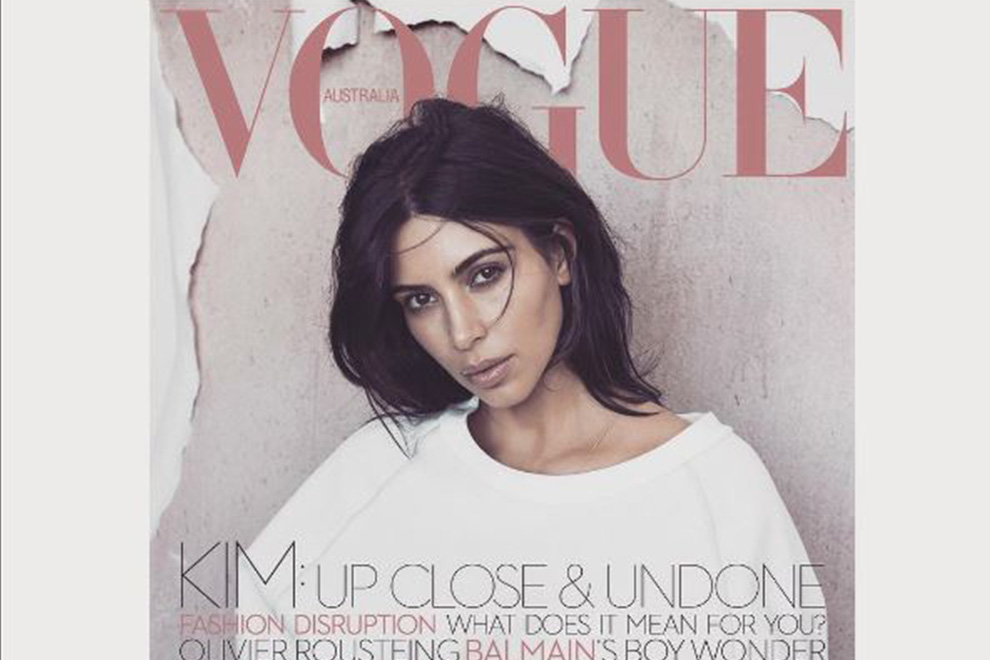 So hot zeigt sich Kim Kardashian am Vogue-Cover