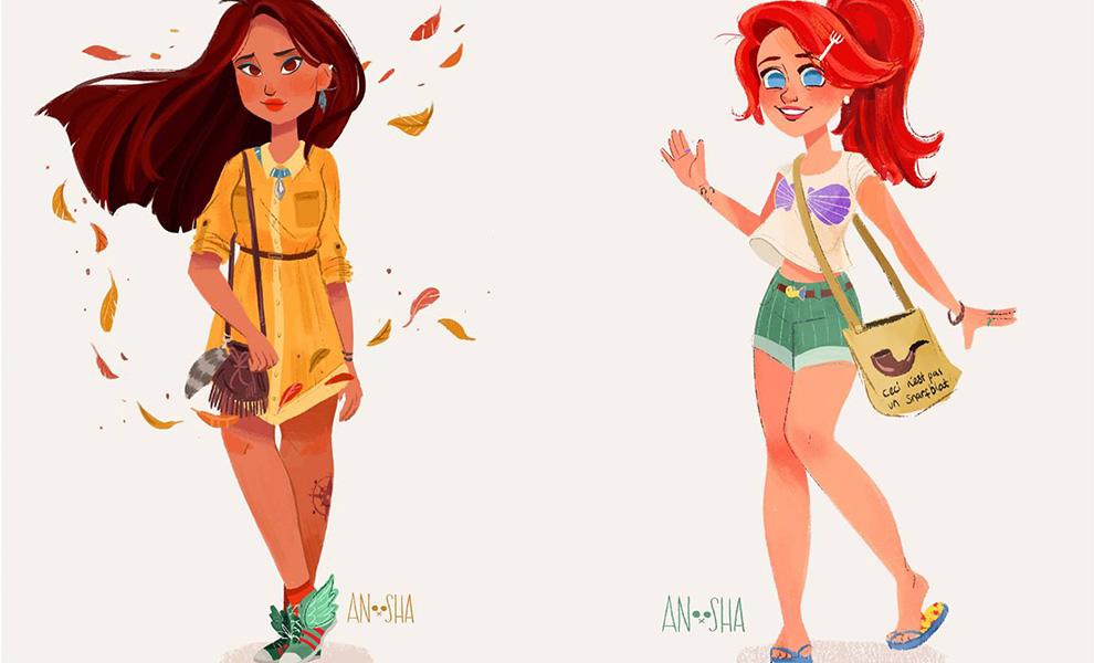So sähen Disney-Prinzessinnen im 21. Jahrhundert aus