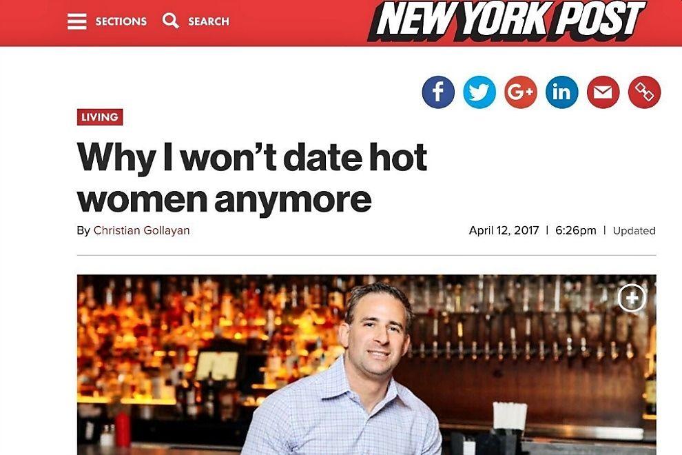 Deshalb will dieser Mann keine schönen Frauen mehr daten