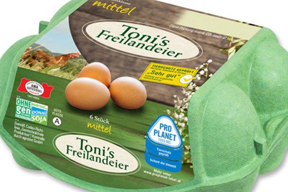 Toni's Freilandeier ruft Eier zurück