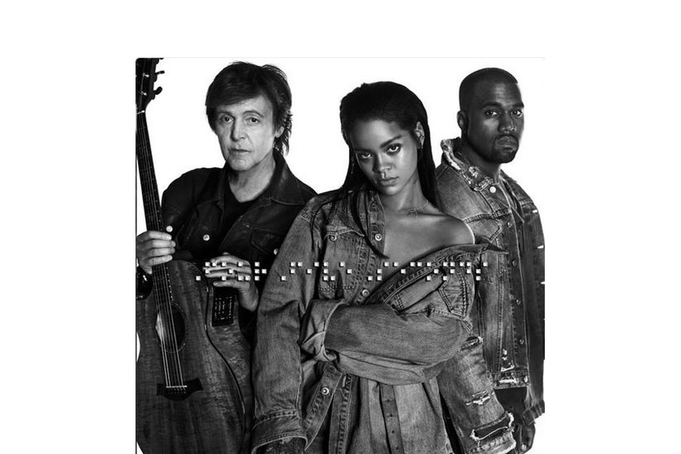 Rihanna singt mit Paul McCartney und Kanye West