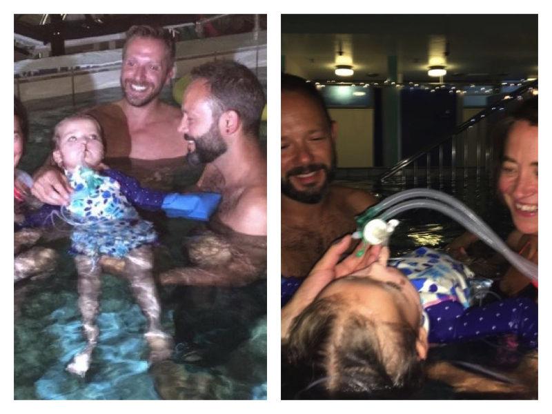 Krankenhaus ermöglicht, dass todkrankes Mädchen ein letztes Mal schwimmen kann