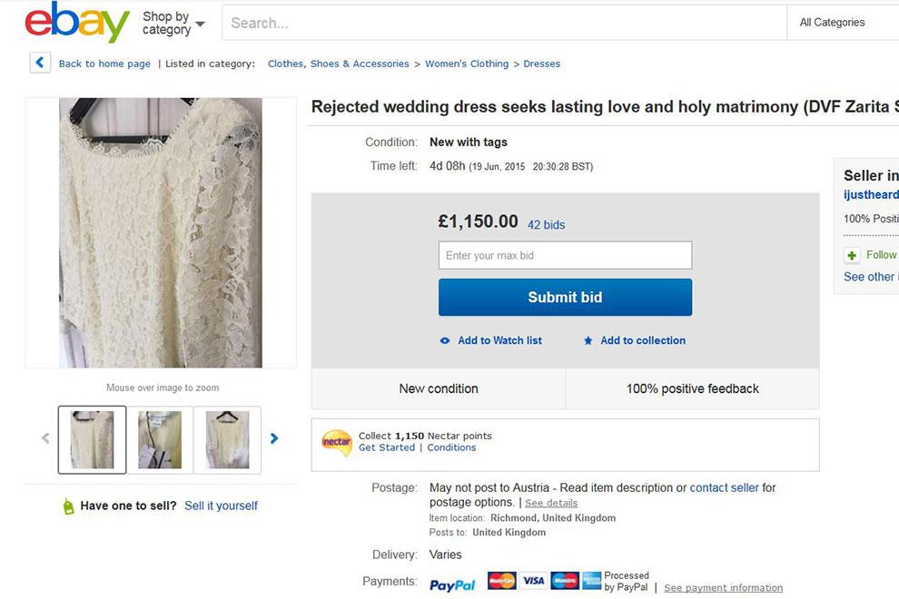 Deshalb verkauft diese Frau ihr Brautkleid auf Ebay
