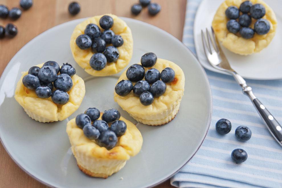 Flaumige Kokos-Heidelbeer-Muffins