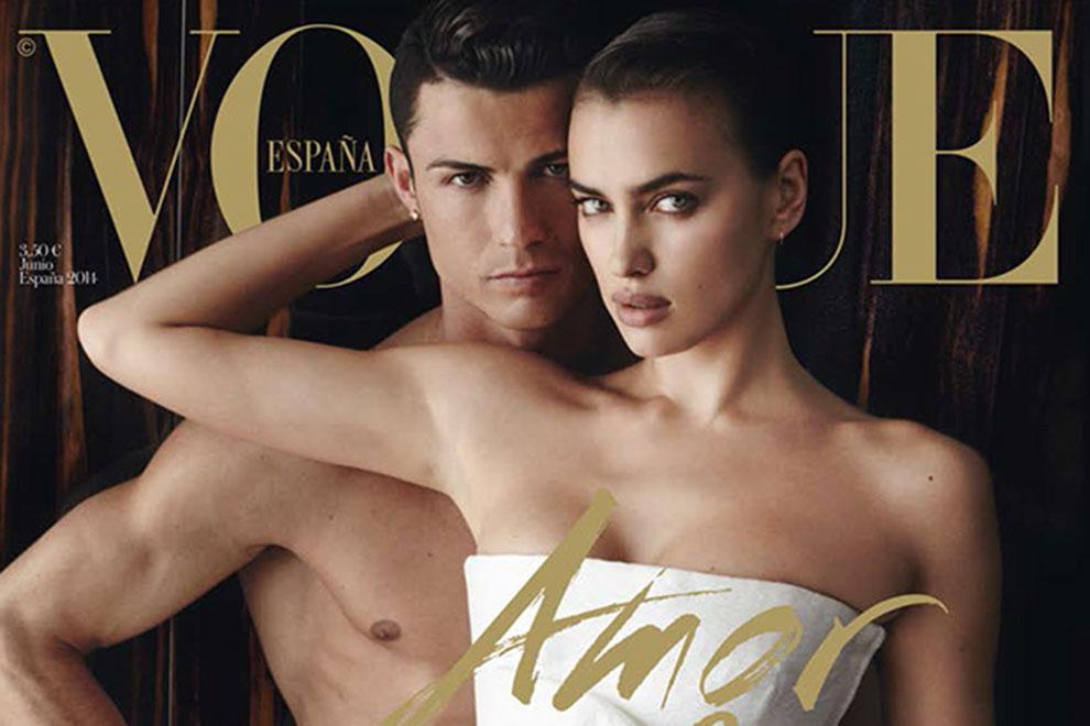 Irina Shayk mit Ronaldo auf Vogue-Cover
