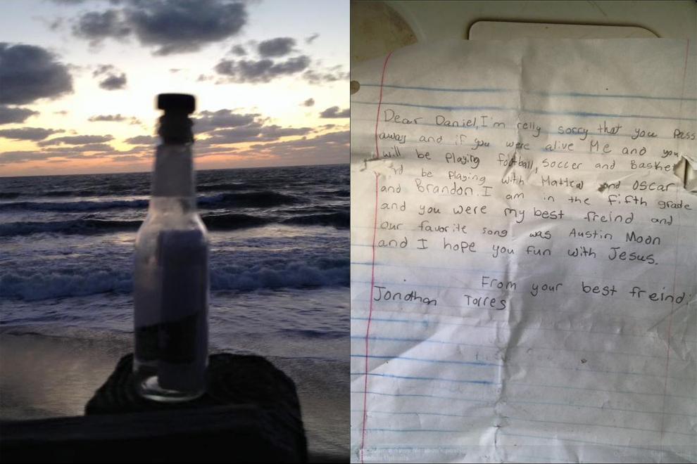 Flaschenpost von Volksschüler rührt das Netz zu Tränen