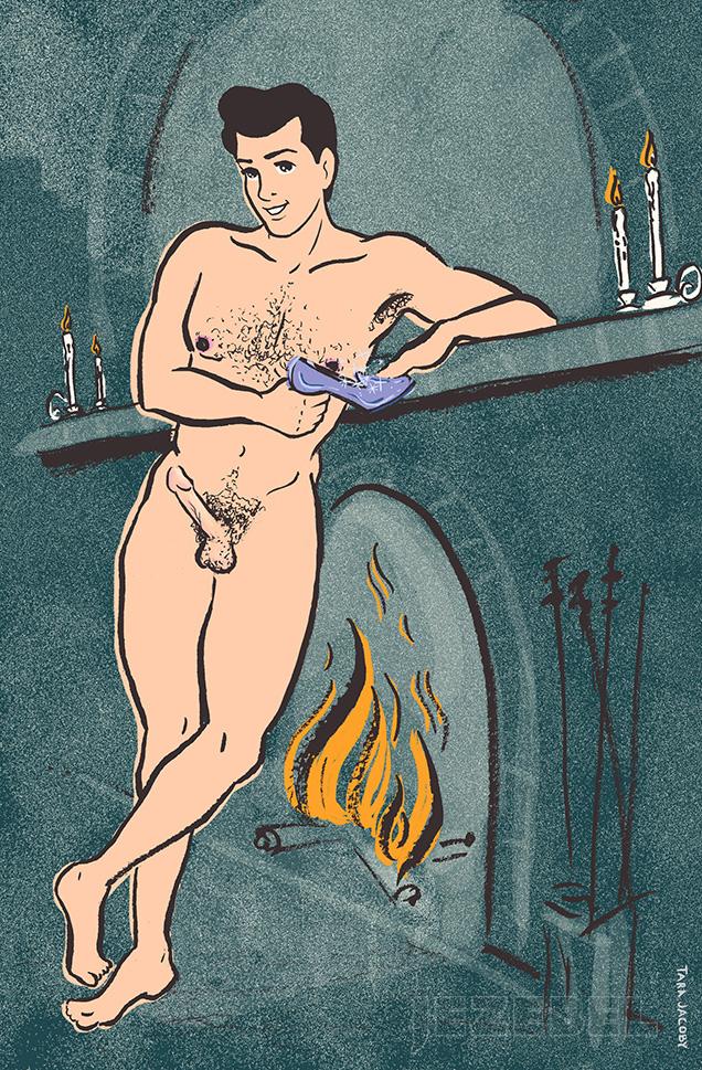 Prinz Charming aus Cinderella: Charmings Penis ist so perfekt wie er: Stolze 15 Zentimeter, nicht zu breit (damit er seiner Herzensdame nicht weh tut) und seine Schamhaare brav getrimmt.