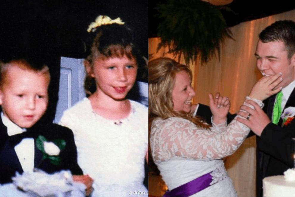 Blumenmädchen und Ringträger heiraten nach 15 Jahren in der selben Kirche