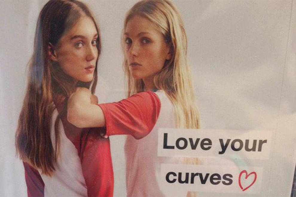 Mit diesem Plakat sorgt Zara für Aufsehen