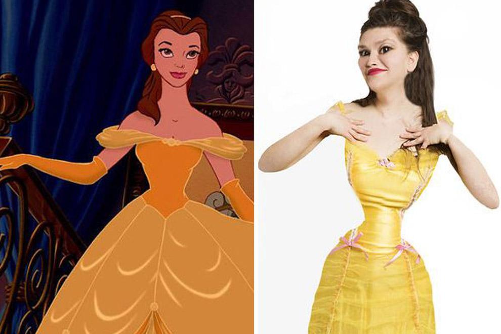 Wenn echte Menschen die Figur von Disney-Prinzessinnen hätten
