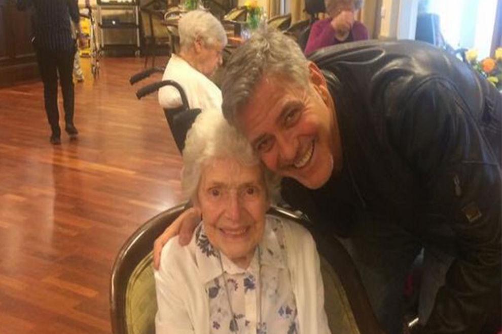 George Clooney überraschte 87-jährigen Fan