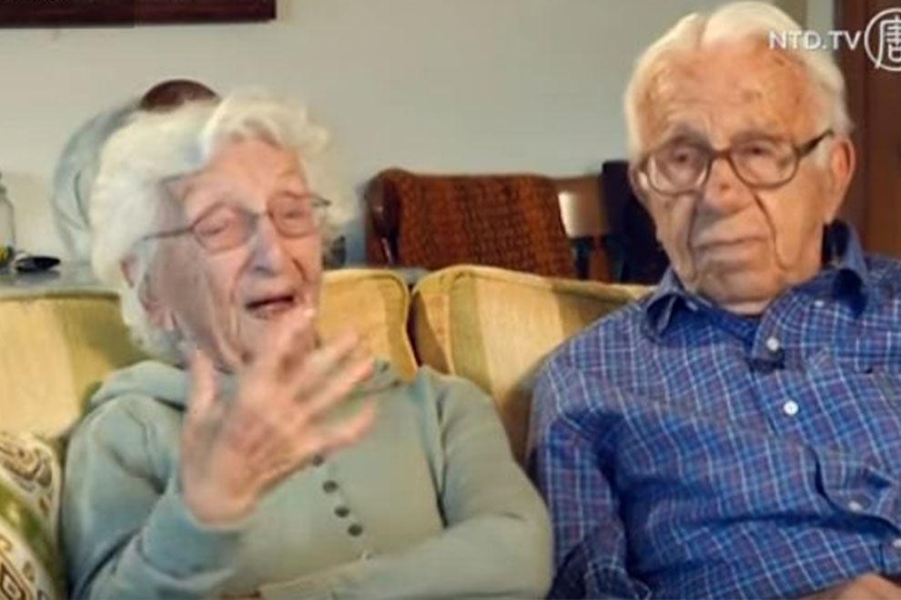 Amerikas am längsten verheiratetes Paar feiert 85. Hochzeitstag